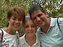 My sister Betty, my aunt Gloria and my brother Alejandro